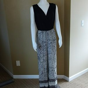 Magic Black and White Jumpsuit NWT Small